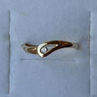Apró fehér köves 333 arany gyűrű