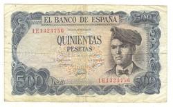 500 peseta 1971 Spanyolország