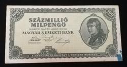 1946  SZÁZMILLIÓ MILPENGŐ SZÉP ÁLLAPOTBAN