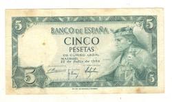 5 peseta 1954 Spanyolország