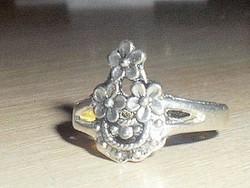 Virág mint. Régi Tibeti ezüst gyűrű 8-as