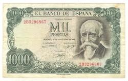 1000 peseta 1971 Spanyolország