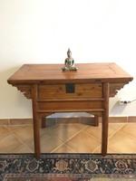Antik kínai, fiókos konzolasztal, asztal, keleti, japán. távol-keleti