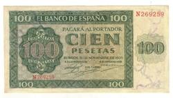 100 peseta 1936 Spanyolország Ritka