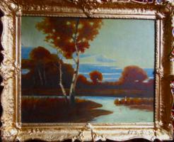 Klasszikus szépségű eredeti K. Spányi Béla festmény!
