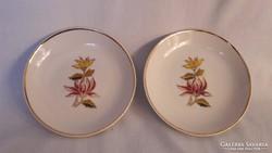 Hollóházi porcelán tányér, dísztányér (2db)