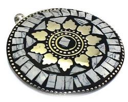 Eredeti Tibeti etnikus medál türkizzel ezüst bevonattal