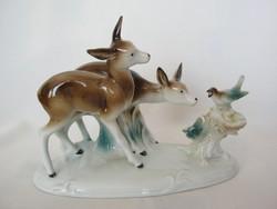 Német porcelán őz pár