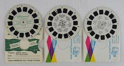 0V643 Retro VIEW MASTER tárcsa 3 darab