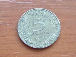 FRANCIA 5 CENTIMES 1980