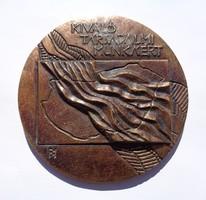 Kiváló társadalmi munkáért bronz plakett B.I. jelzéssel