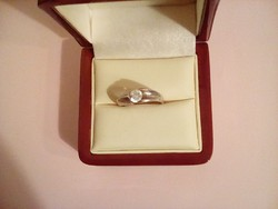 Ezüst cirkon köves gyűrű