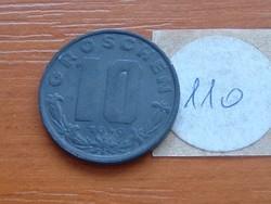 AUSZTRIA OSZTRÁK 10 GROSCHEN 1949 CINK 110.