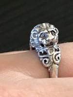 Csodálatos ezüst gyűrű 925 belső átmérő:18mm