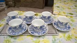 Meisseni hagymamintás teáscsésze tányérral szett , de db-ra is