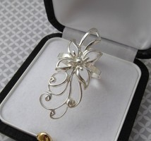 Romantikus virágos ezüst gyűrű - új ékszer