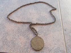 Medalon,lanc,ezűst, 60 cm