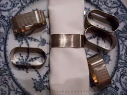 Ezüstözött angol szalvétagyűrűk (Silver plated): 6 darab egyben