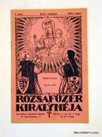 1930 május  /  RÓZSAFÜZÉR KIRÁLYNÉJA  /  RÉGI EREDETI ÚJSÁG Szs.:  5476