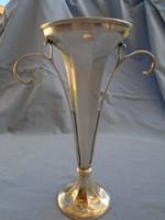 Antik angol art deco ezüst váza jelzésekkel 23 cm magas 546 gramm