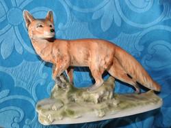 Sitzendorf hatalmas fajansz róka