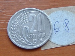 BULGÁRIA 20 SZTOTINKI 1954 68.