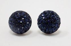 Kék köves ezüst swarowski fülbevaló (ZAL-Ag58652)