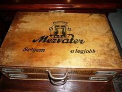 KURIÓZUM! Múzeumi darab! Antik MEZ Rt. 2 fiókos cérna szekrényke