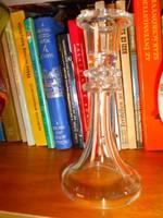 Antik üveg gyertyatartó--népi tárgyak gyűjtőinek
