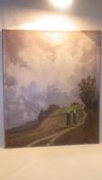 1942 Régi olaj-vászon festmény