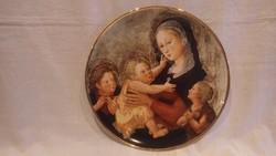 Piero di Cosimo Hollóházi limitált porcelán falitál