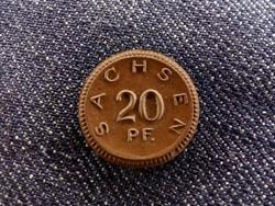 Szászország - Porcelán 20 Pfenning 1921 (id5742)