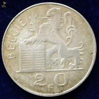 Ezüst 20 és 50 Francs Belgium