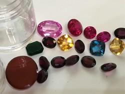 Antik Ékszerekből kivett kövek,drágakövek rubin,akvamarin,citrin,gránát,