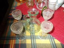 Stanpedlis talpas poharak mini likőrös üveggel