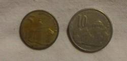Szerb pénz - érme, 5 és 10 dinár (2005)