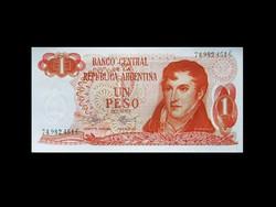 UNC - 1 PESO- ARGENTÍNA - 1970 Ma már ritkaság!