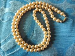 Egysoros antik gyöngysor - gyöngy nyakék