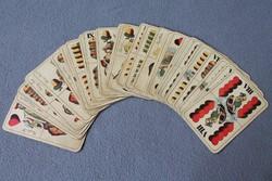 Piatnik Nándor antik magyar kártya, 32 lapos