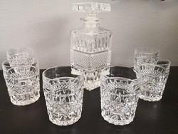 Whiskey-s készlet díszüveg és 6 pohár