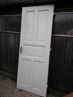 Antik tömör fa ajtó 220x85cm réz kilinccsel zárjával együtt