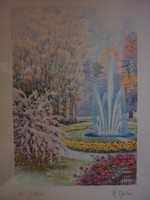M. Marten - La Fontana akvarell