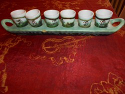Gorka Géza röviditalos készlet (tálca+ 6 pohár