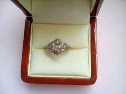 Antik virágözön ezüst gyűrű
