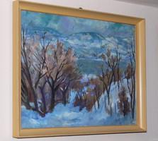 Jets György képcsarnokos festmény