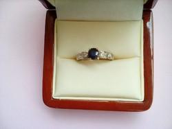 Szép kék köves gyűrű