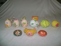 Húsvéti tojás dekorációk - kerámia, fa - kilenc darab