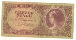 10000 pengő 1945 bélyeg nélkül