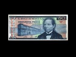 UNC - 50 PESOS - MEXIKÓ - 1981 Ma már ritka!