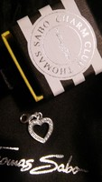 Thomas Sabo ezüst szív charm cirkónia kövekkel